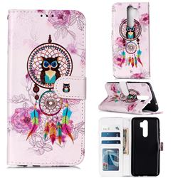 Wind Chimes Owl 3D Relief Oil PU Leather Wallet Case for Mi Xiaomi Redmi Note 8 Pro