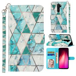 Stitching Marble 3D Leather Phone Holster Wallet Case for Mi Xiaomi Redmi Note 8 Pro