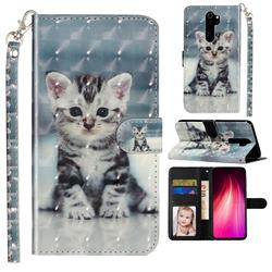 Kitten Cat 3D Leather Phone Holster Wallet Case for Mi Xiaomi Redmi Note 8 Pro