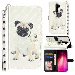 Pug Dog 3D Leather Phone Holster Wallet Case for Mi Xiaomi Redmi Note 8 Pro