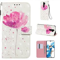 Watercolor 3D Painted Leather Wallet Case for Mi Xiaomi Redmi Note 8 Pro
