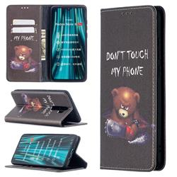 Chainsaw Bear Slim Magnetic Attraction Wallet Flip Cover for Mi Xiaomi Redmi Note 8 Pro