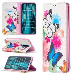 Flying Butterflies Slim Magnetic Attraction Wallet Flip Cover for Mi Xiaomi Redmi Note 8 Pro