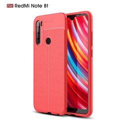 Luxury Auto Focus Litchi Texture Silicone TPU Back Cover for Mi Xiaomi Redmi Note 8T - Red