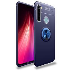 Auto Focus Invisible Ring Holder Soft Phone Case for Mi Xiaomi Redmi Note 8T - Blue