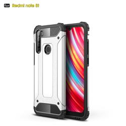 King Kong Armor Premium Shockproof Dual Layer Rugged Hard Cover for Mi Xiaomi Redmi Note 8T - White