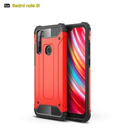 King Kong Armor Premium Shockproof Dual Layer Rugged Hard Cover for Mi Xiaomi Redmi Note 8T - Big Red