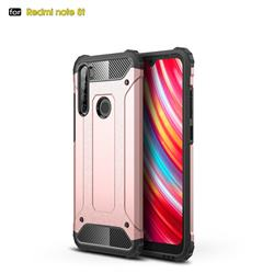 King Kong Armor Premium Shockproof Dual Layer Rugged Hard Cover for Mi Xiaomi Redmi Note 8T - Rose Gold