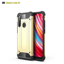 King Kong Armor Premium Shockproof Dual Layer Rugged Hard Cover for Mi Xiaomi Redmi Note 8T - Champagne Gold