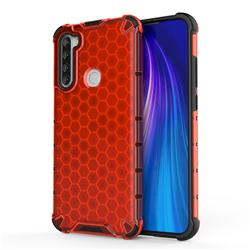 Honeycomb TPU + PC Hybrid Armor Shockproof Case Cover for Mi Xiaomi Redmi Note 8T - Red