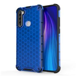 Honeycomb TPU + PC Hybrid Armor Shockproof Case Cover for Mi Xiaomi Redmi Note 8T - Blue
