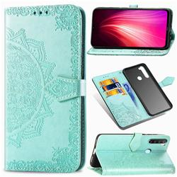 Embossing Imprint Mandala Flower Leather Wallet Case for Mi Xiaomi Redmi Note 8T - Green