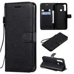 Retro Greek Classic Smooth PU Leather Wallet Phone Case for Mi Xiaomi Redmi Note 8T - Black