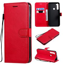Retro Greek Classic Smooth PU Leather Wallet Phone Case for Mi Xiaomi Redmi Note 8T - Red