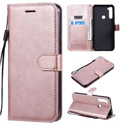 Retro Greek Classic Smooth PU Leather Wallet Phone Case for Mi Xiaomi Redmi Note 8T - Rose Gold