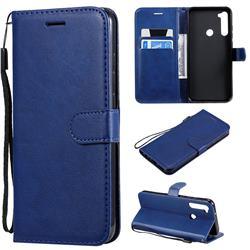 Retro Greek Classic Smooth PU Leather Wallet Phone Case for Mi Xiaomi Redmi Note 8T - Blue