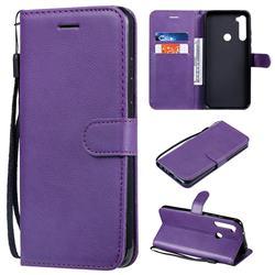 Retro Greek Classic Smooth PU Leather Wallet Phone Case for Mi Xiaomi Redmi Note 8T - Purple