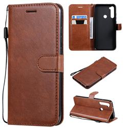 Retro Greek Classic Smooth PU Leather Wallet Phone Case for Mi Xiaomi Redmi Note 8T - Brown