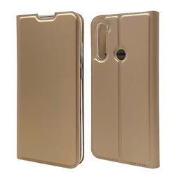 Ultra Slim Card Magnetic Automatic Suction Leather Wallet Case for Mi Xiaomi Redmi Note 8T - Champagne