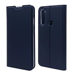 Ultra Slim Card Magnetic Automatic Suction Leather Wallet Case for Mi Xiaomi Redmi Note 8T - Royal Blue