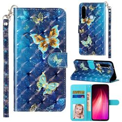 Rankine Butterfly 3D Leather Phone Holster Wallet Case for Mi Xiaomi Redmi Note 8T