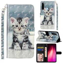 Kitten Cat 3D Leather Phone Holster Wallet Case for Mi Xiaomi Redmi Note 8T
