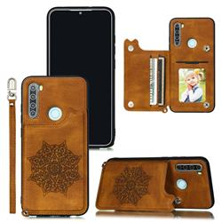 Luxury Mandala Multi-function Magnetic Card Slots Stand Leather Back Cover for Mi Xiaomi Redmi Note 8T - Brown