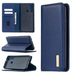 Binfen Color BF06 Luxury Classic Genuine Leather Detachable Magnet Holster Cover for Mi Xiaomi Redmi Note 8T - Blue