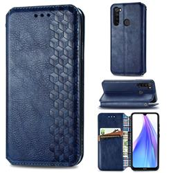 Ultra Slim Fashion Business Card Magnetic Automatic Suction Leather Flip Cover for Mi Xiaomi Redmi Note 8T - Dark Blue