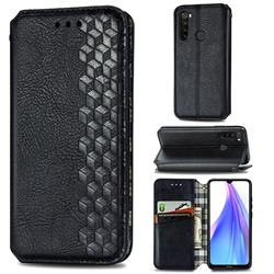 Ultra Slim Fashion Business Card Magnetic Automatic Suction Leather Flip Cover for Mi Xiaomi Redmi Note 8T - Black