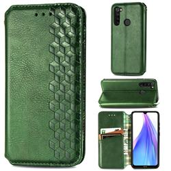 Ultra Slim Fashion Business Card Magnetic Automatic Suction Leather Flip Cover for Mi Xiaomi Redmi Note 8T - Green