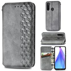 Ultra Slim Fashion Business Card Magnetic Automatic Suction Leather Flip Cover for Mi Xiaomi Redmi Note 8T - Grey