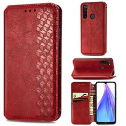 Ultra Slim Fashion Business Card Magnetic Automatic Suction Leather Flip Cover for Mi Xiaomi Redmi Note 8T - Red