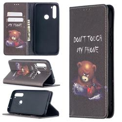 Chainsaw Bear Slim Magnetic Attraction Wallet Flip Cover for Mi Xiaomi Redmi Note 8T