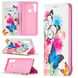 Flying Butterflies Slim Magnetic Attraction Wallet Flip Cover for Mi Xiaomi Redmi Note 8T