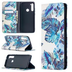 Blue Leaf Slim Magnetic Attraction Wallet Flip Cover for Mi Xiaomi Redmi Note 8T