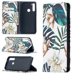 Flower Leaf Slim Magnetic Attraction Wallet Flip Cover for Mi Xiaomi Redmi Note 8T