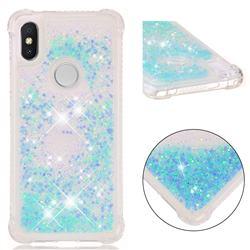 Dynamic Liquid Glitter Sand Quicksand TPU Case for Mi Xiaomi Redmi S2 (Redmi Y2) - Silver Blue Star