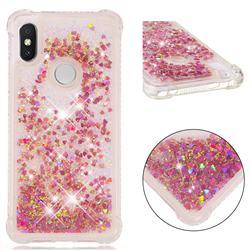 Dynamic Liquid Glitter Sand Quicksand TPU Case for Mi Xiaomi Redmi S2 (Redmi Y2) - Rose Gold Love Heart