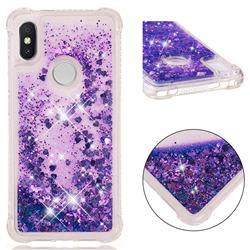 Dynamic Liquid Glitter Sand Quicksand Star TPU Case for Mi Xiaomi Redmi S2 (Redmi Y2) - Purple