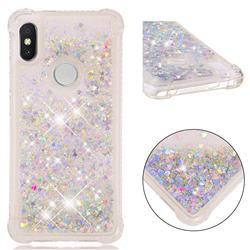 Dynamic Liquid Glitter Sand Quicksand Star TPU Case for Mi Xiaomi Redmi S2 (Redmi Y2) - Silver