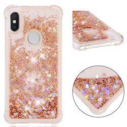 Dynamic Liquid Glitter Sand Quicksand Star TPU Case for Mi Xiaomi Redmi S2 (Redmi Y2) - Diamond Gold