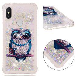 Sweet Gray Owl Dynamic Liquid Glitter Sand Quicksand Star TPU Case for Mi Xiaomi Redmi S2 (Redmi Y2)