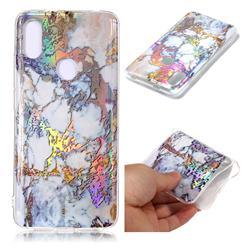 Gold Plating Marble Pattern Bright Color Laser Soft TPU Case for Mi Xiaomi Redmi S2 (Redmi Y2)