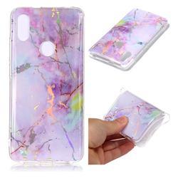 Pink Purple Marble Pattern Bright Color Laser Soft TPU Case for Mi Xiaomi Redmi S2 (Redmi Y2)
