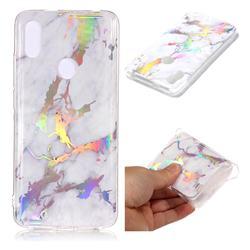 White Marble Pattern Bright Color Laser Soft TPU Case for Mi Xiaomi Redmi S2 (Redmi Y2)
