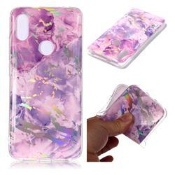 Purple Marble Pattern Bright Color Laser Soft TPU Case for Mi Xiaomi Redmi S2 (Redmi Y2)