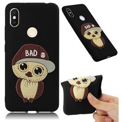 Bad Boy Owl Soft 3D Silicone Case for Mi Xiaomi Redmi S2 (Redmi Y2) - Black