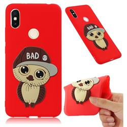 Bad Boy Owl Soft 3D Silicone Case for Mi Xiaomi Redmi S2 (Redmi Y2) - Red