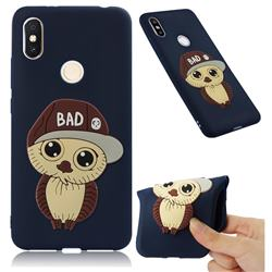 Bad Boy Owl Soft 3D Silicone Case for Mi Xiaomi Redmi S2 (Redmi Y2) - Navy